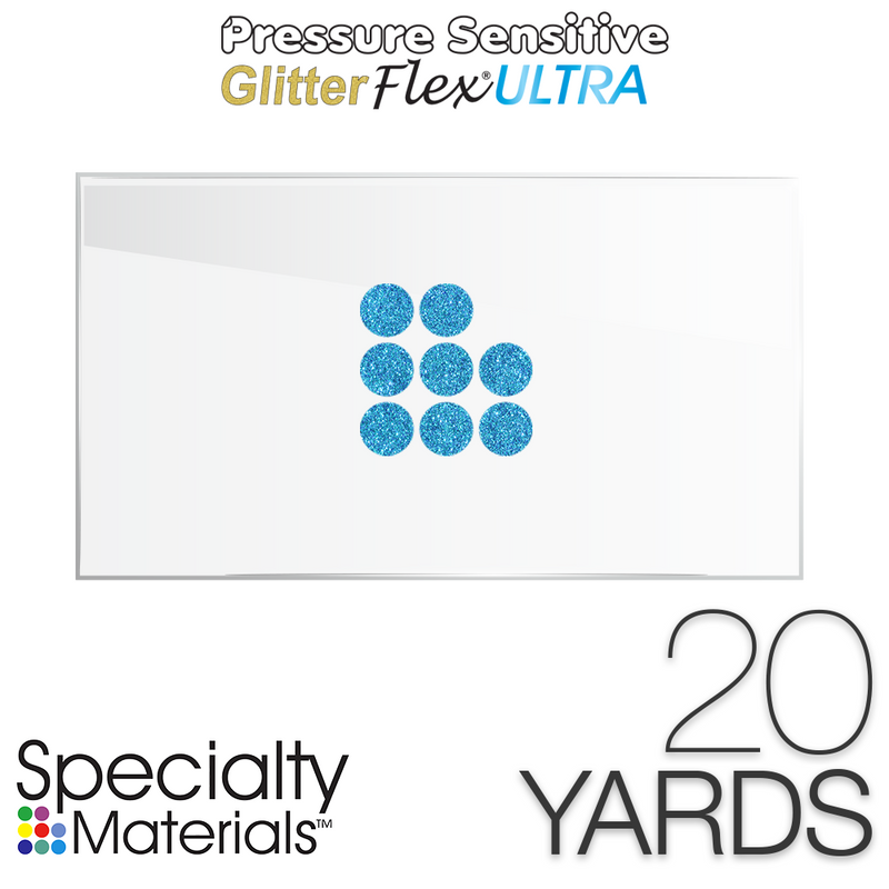 "Specialty Materials Pressure Sensitive GlitterFlex Ultra 19"" x 20 Yards"