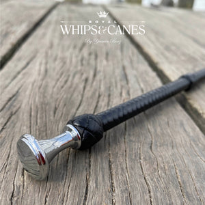 Lead Rein / First Ridden Silver Fluted Knob Cane