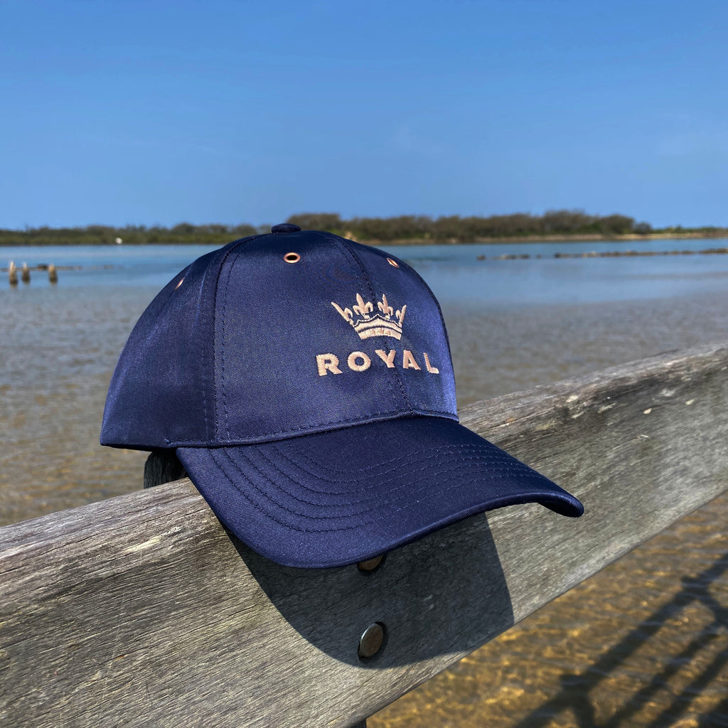 Royal Crown Rose Gold Logo Cap