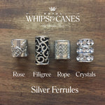 Clear Conic Silver Set Crystal Topper Cane