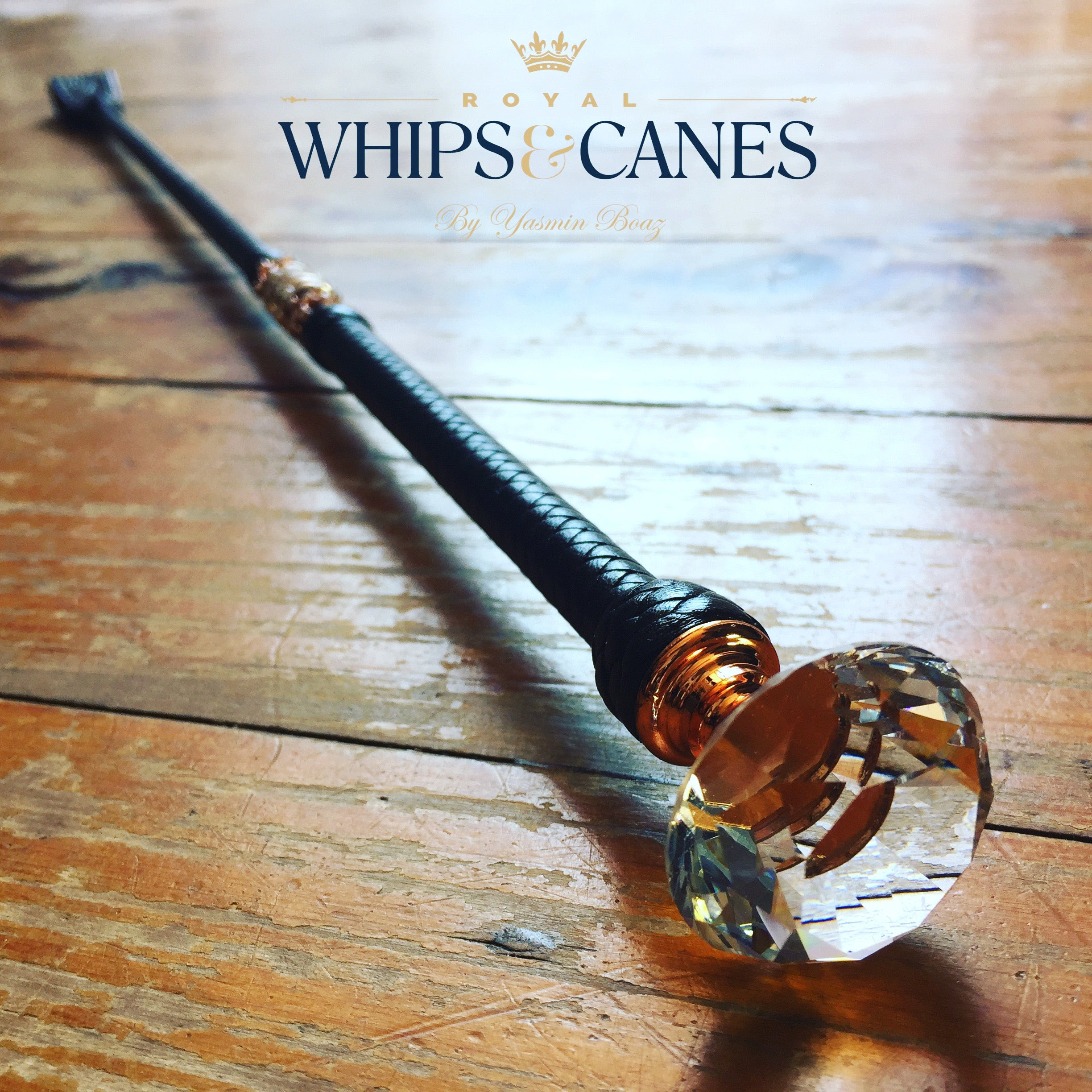 Antares Rose Gold Crystal Cane