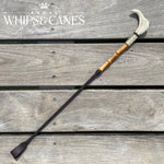Antler Hammer Cane - Classic Dark Havana with Bamboo Handle