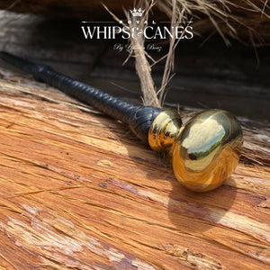 Themisto - Gold Metal Knob Cane