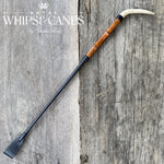 Antler & Bamboo Black Show Cane - In Stock