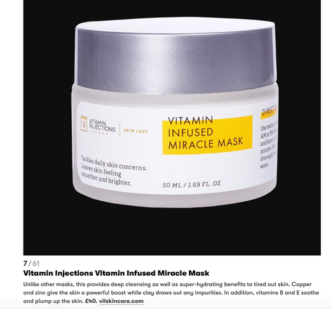 GQ magazine Vitamin Injections London Skin Care Miracle Mask