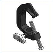 PN 6049 - BLACK PIPE CLAMP W/T-HANDLE