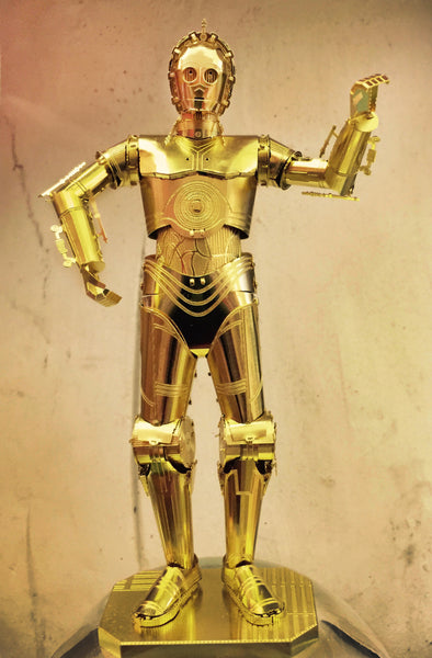 Star Wars's C-3PO Metal Earth Model Kit available at Yikes Toys, Tucson Arizona