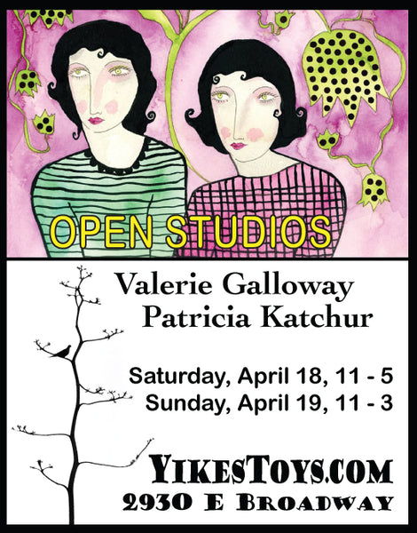 Tucson Artists' Open Studios with Valerie Galloway and Patricia Katchur at Yikes Toys!