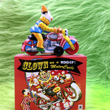 Clown on Motorcycle Metal Windup