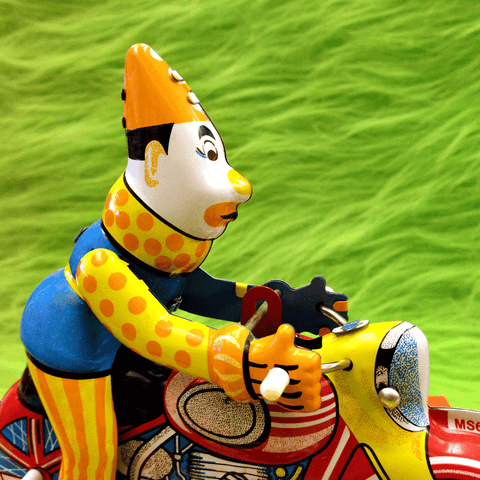 Clown on Motorcycle Wind-up