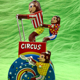 Monkey Circus Metal Windup