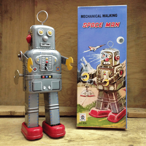 Mechanical Walking Space Man Robot