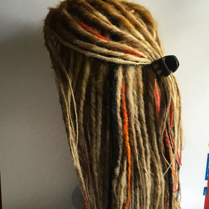 Custom Synthetic Dread Fall Dreadlock Wig You Choose Style and Colors