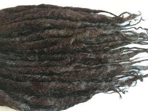 Brown Dreads Knotty Dark Mahogany Hair Extensions 20 DE Double Ended Dreadlocks