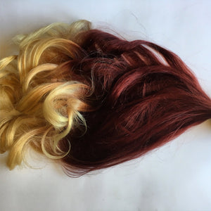 Ombre Hair Red Auburn Burgundy Light Blonde Clip Fade Clip in 100% Remy Human Hair Extensions