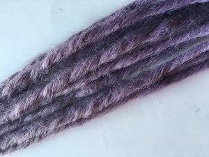 10 SE Single Ended Synthetic Dreads Light Purple Pastel Lavender Dreadlock Braid Hair Extensions