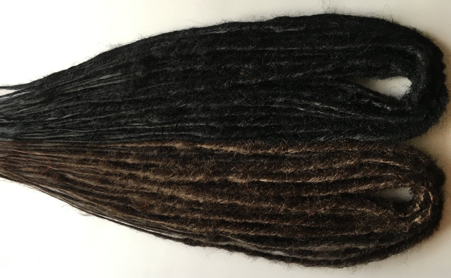 100 SE Count Dread Brown Black Braid Dreadlock Hair Extensions or Dread Falls