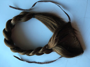 Clip in Braid Hair Extension Thick Long Brown Blonde Auburn Black Pony Tail Plait Fall Clip on 22in
