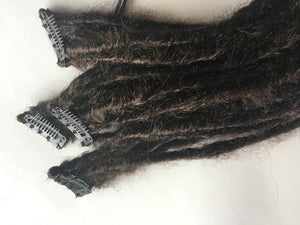 5 Clip in Dreadlocks Synthetic Dreads Hair Extension Custom Black Brown Auburn Blonde
