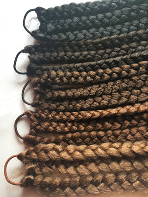 Triple 3 Braid Hair Extension Full Thick Long Pony Tail Plait Tie Bun Black Brown Auburn Blonde