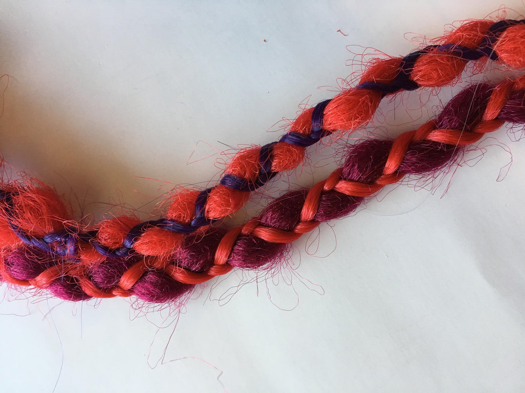 Bright Red Burgundy Purple Wrap Braids Single Ended Synthetic Dreadlocks Dreads Hair Extensions