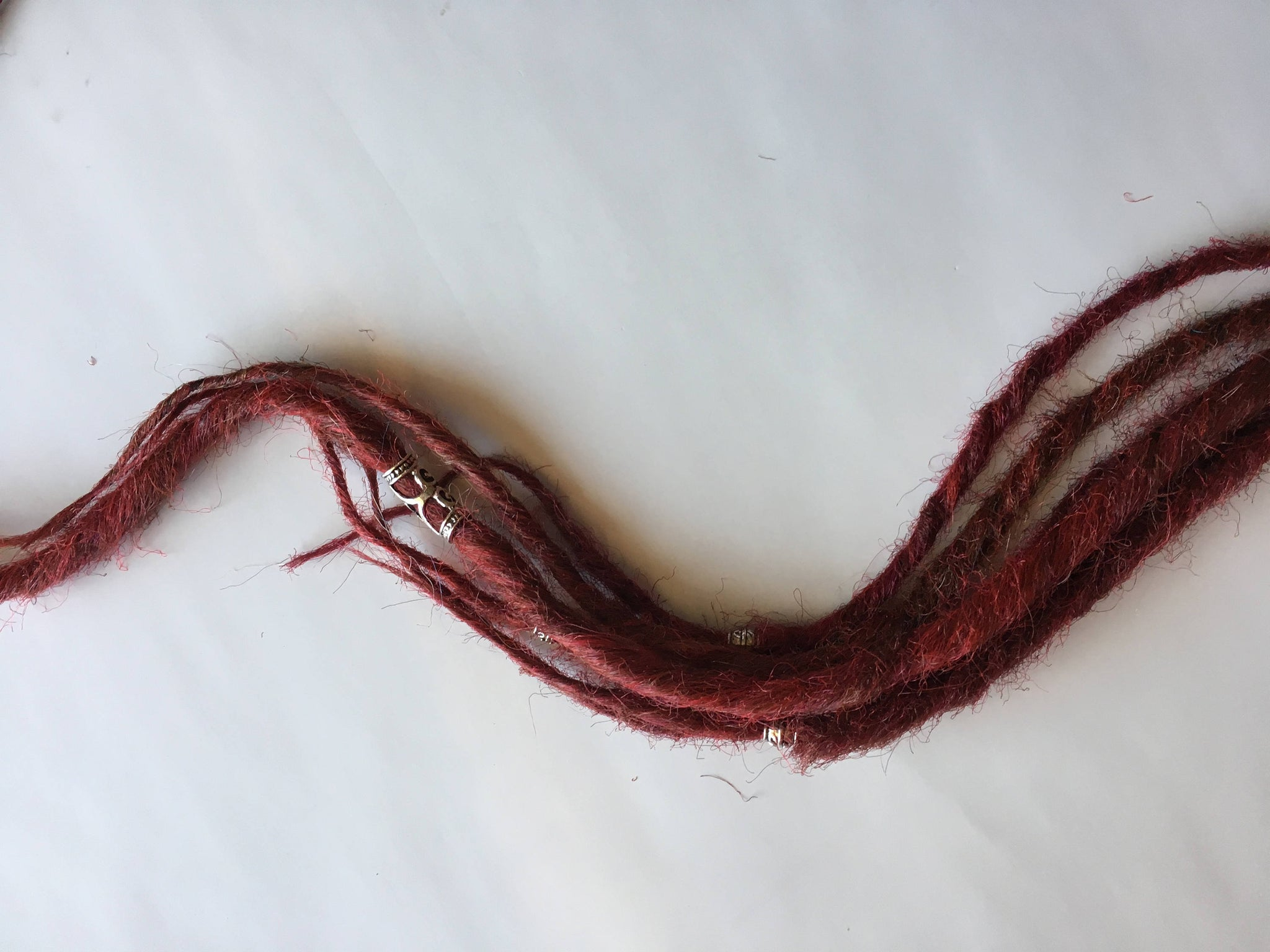 Cherry Red Burgundy Dreads 6 SE Single Ended Synthetic Dreadlocks Hair Extensions