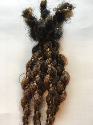 Ombre Dreads Hair Extensions Brown Auburn Blonde 5 Wrap Braids Synthetic Dreadlocks Dread