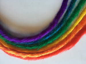 5 Clip in Rainbow Dreadlocks SE Single Ended Synthetic Dreads Hair Extension Gay Pride