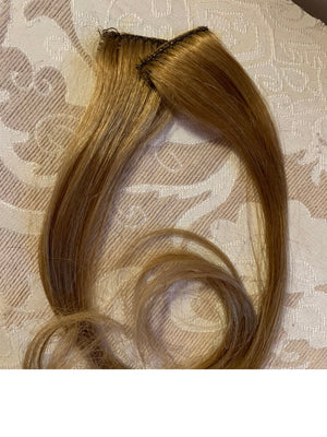 Light Golden Brown Dark Blonde in 100% Human Hair Extensions Streaks 14-15 in Set of 2