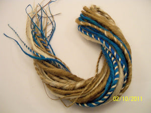 15 DE Double Ended Synthetic Dreads Blonde Petrol Green Blue Teal Dreadlock Hair Extensions