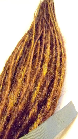 40 SE Synthetic Dreads Natural Brown Blond Auburn Custom Dreadlock Extensions
