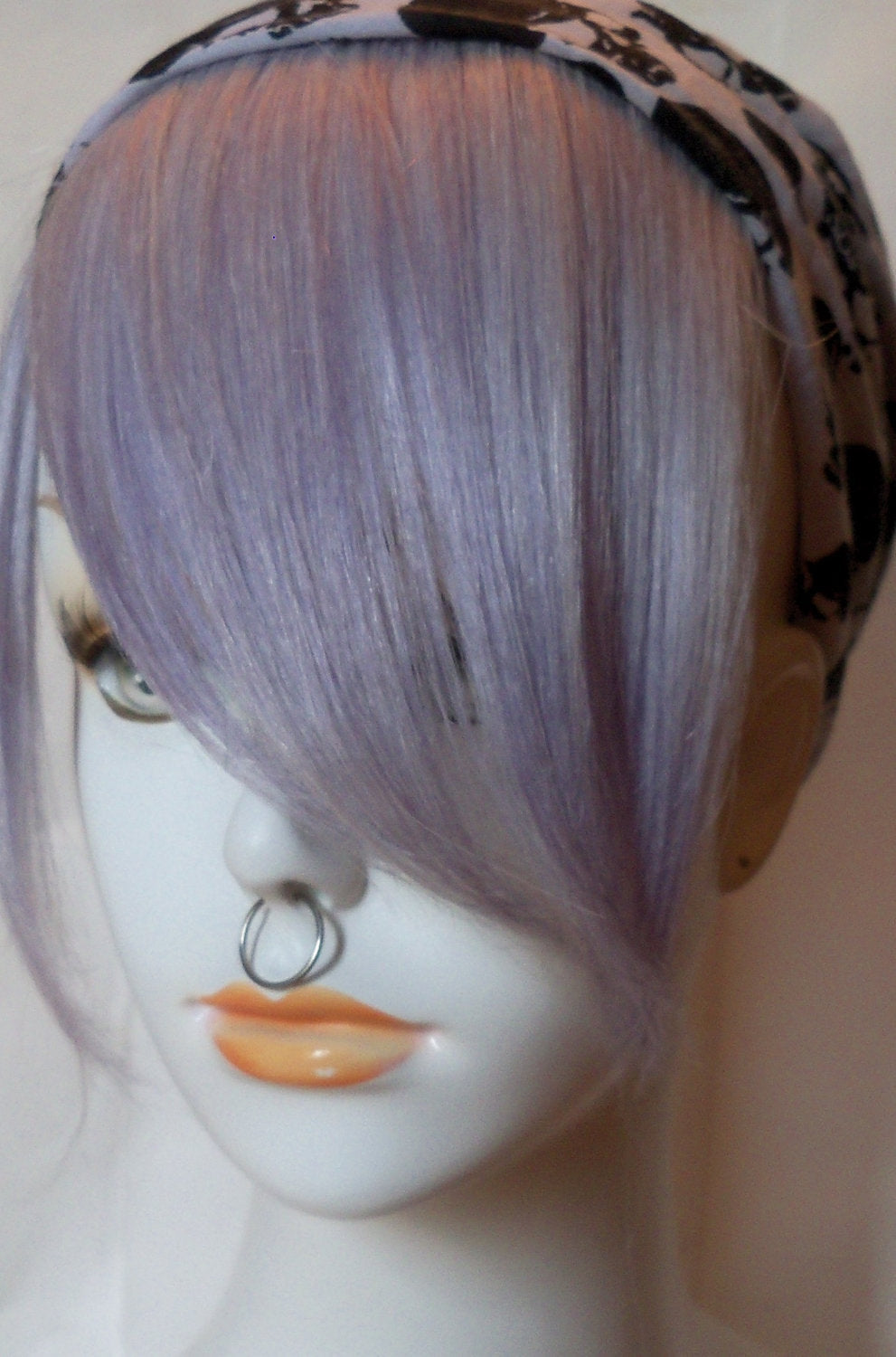 Lavender Silver White Platinum Blonde Ice 100% Human Hair Clip in Bang Fringe Hair Extension