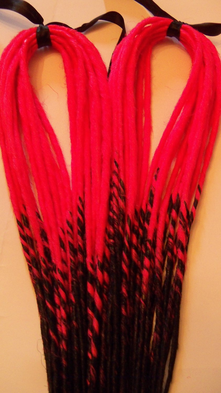 50 Custom Transitional Ombre Synthetic Dreads Dreadlock Hair Extensions or Dread Falls
