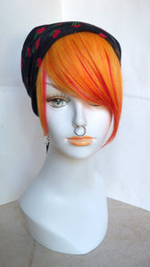 Flame Orange Red Layered 100% Human Hair Clip in Bang Fringe Hair Extension