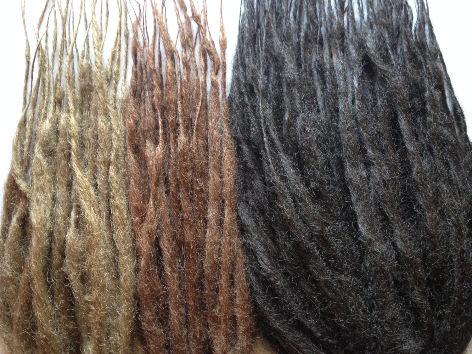 50 DE Double Ended Synthetic Dreads Any Color Dreadlock Hair Extensions or Dread Falls