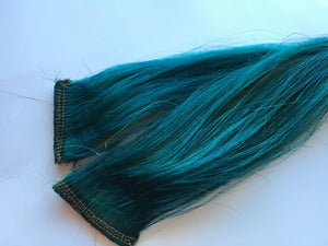 16-18 inch 100% Human Hair Extensions Teal Green Blue and Blonde Ombre Clip in or Tape