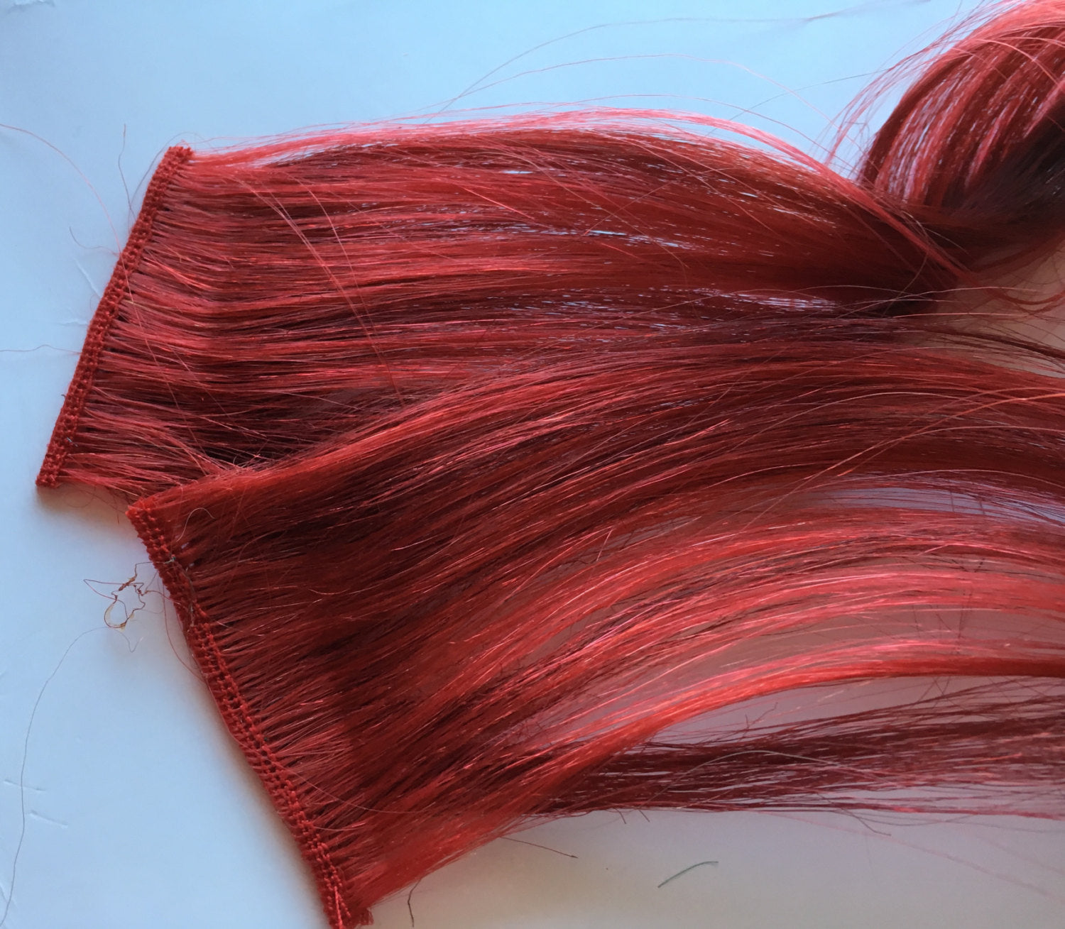 16-18 inch 100% Human Hair Extensions Bright Red and Burgundy Clip in or Tape style