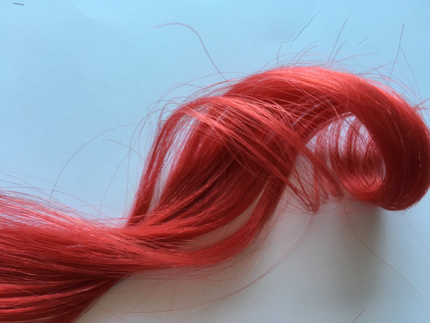 16-18 inch 100% Human Hair Extensions Bright Red Clip in or Tape style