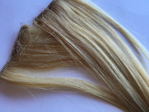 12-14 inch 100% Human Hair Extensions Light Blonde Platinum Clip in or Tape style