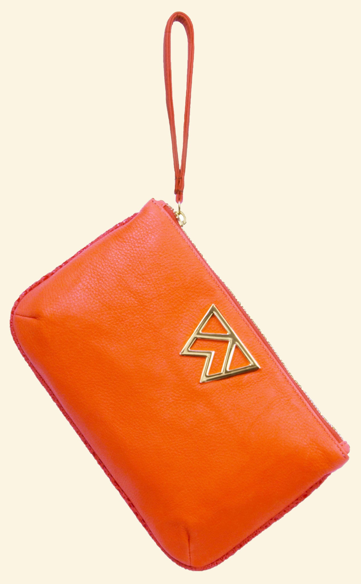 fde1bf864f9b Risky Biz Wristlet in Coral & Salmon with Coral Serpentine