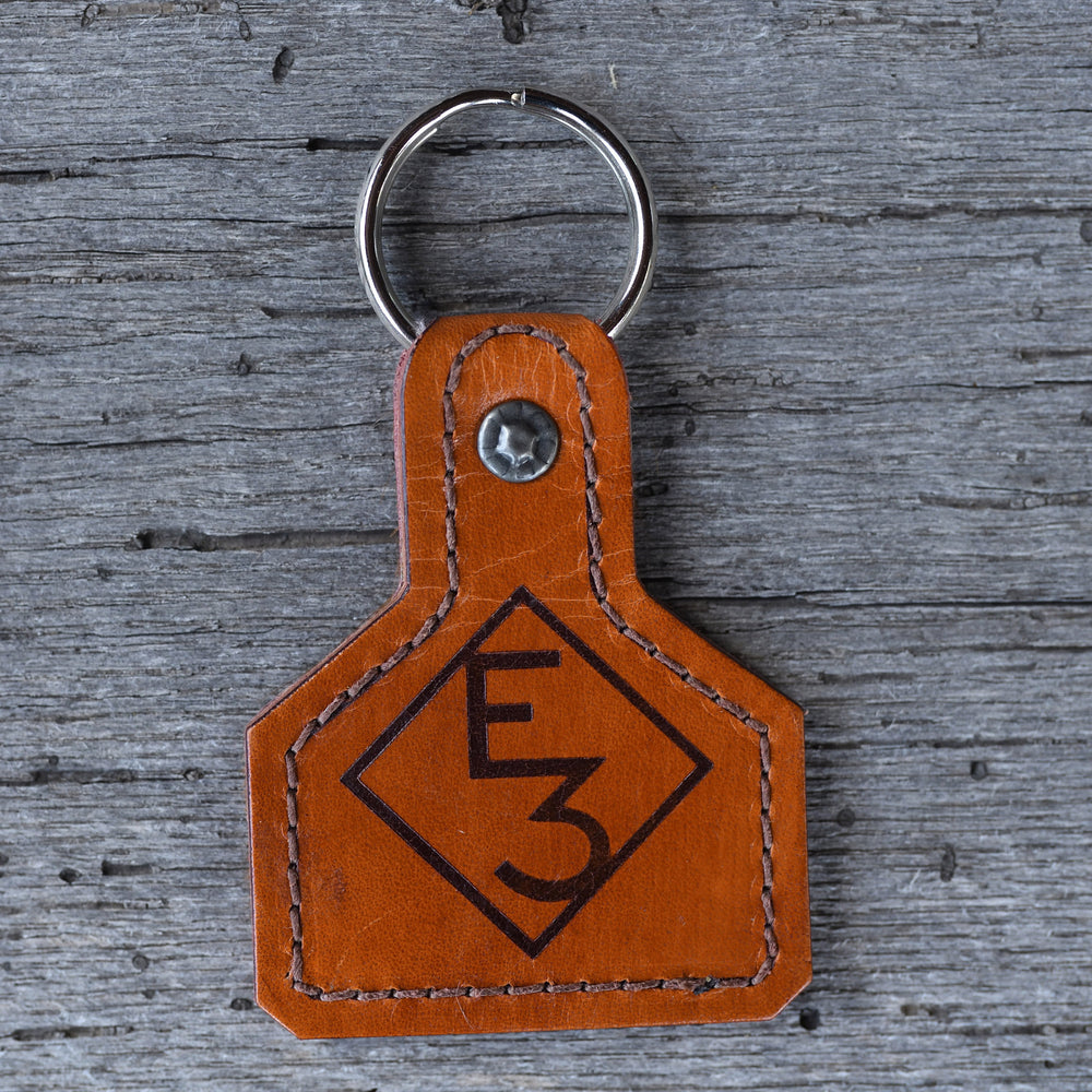 E3 Leather Keychain