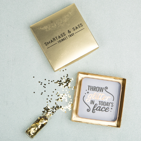 Throw Glitter Trinket Tray