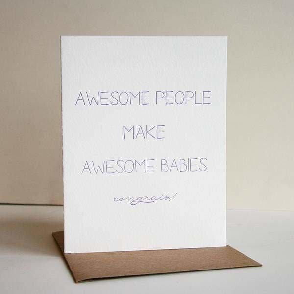 Awesome People Card (New Baby) - Greeting Cards