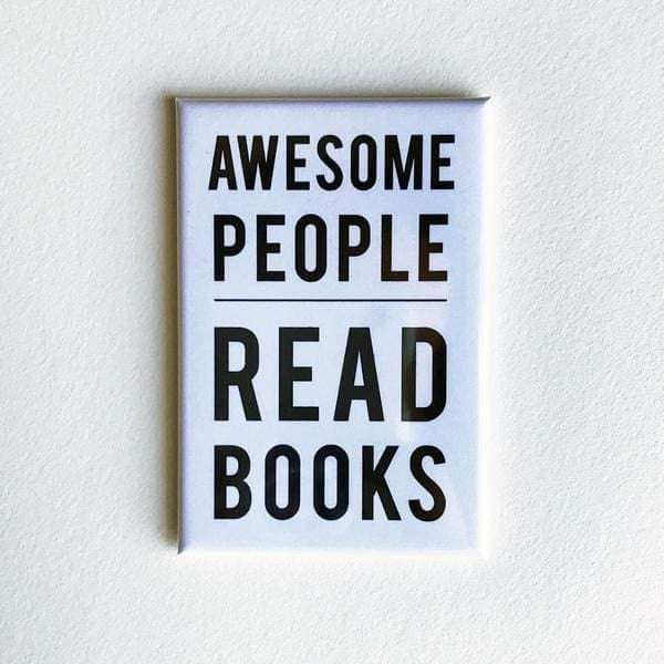 Awesome People Read Magnet - Magnets
