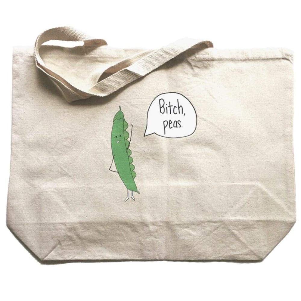 Bitch Peas Oversized Tote Bag - Totes & Bags