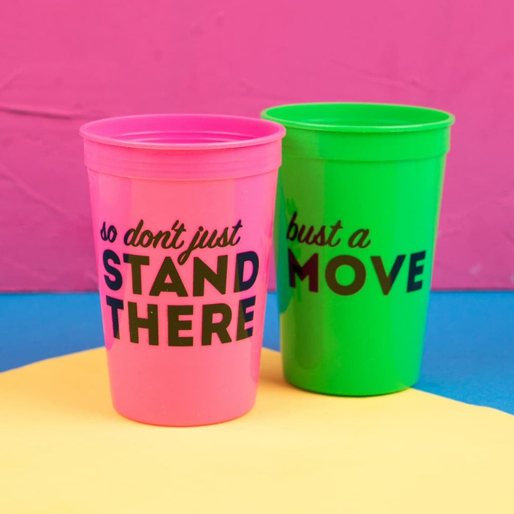 Bust a Move Stadium Cup Set (2) - Drinkware