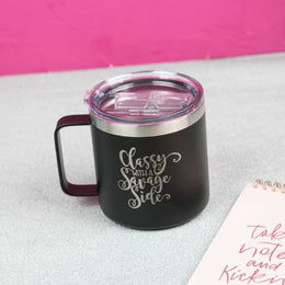 Classy with a Savage Side 18 oz. Mug - Drinkware
