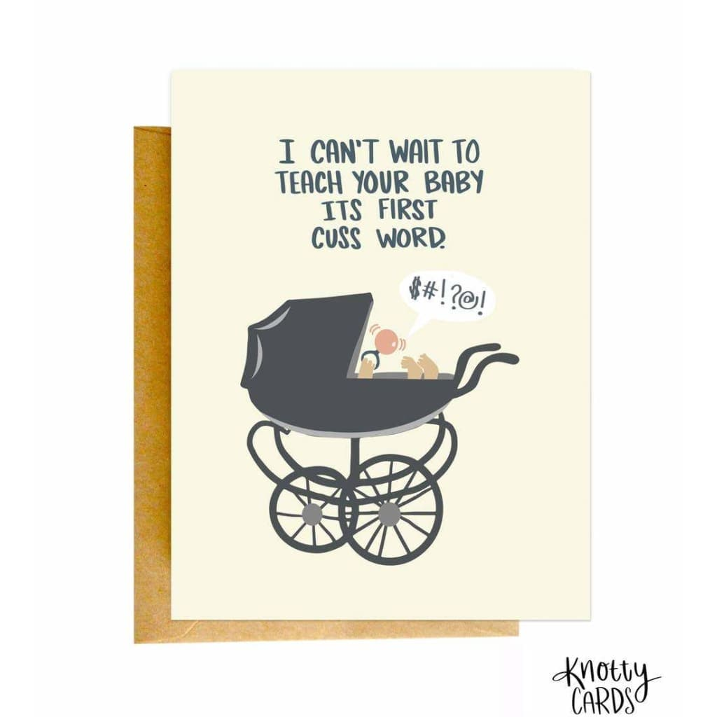 Cuss Word Baby Card (New Baby) - Greeting Cards