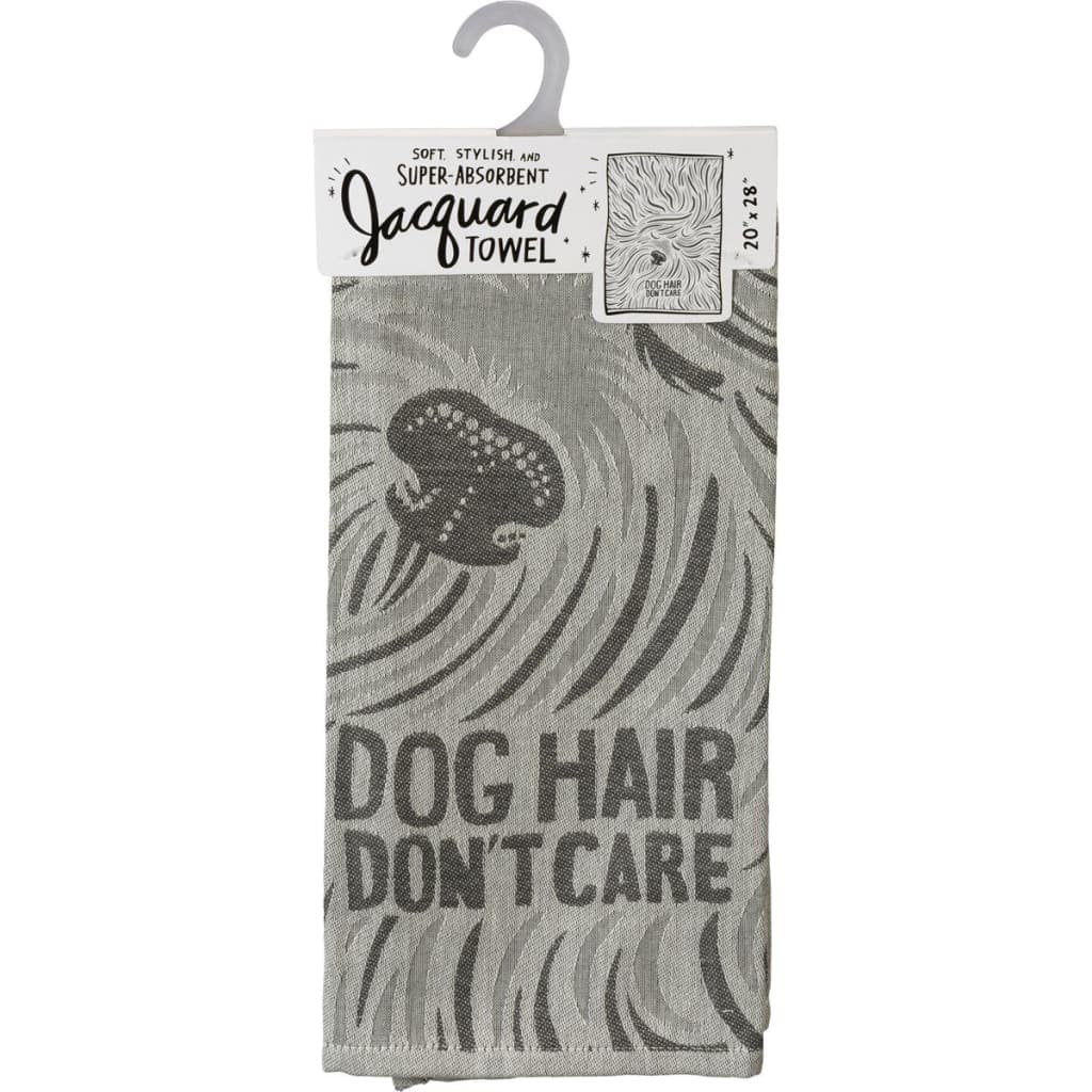 Dog Hair Don't Care Jacquard Towel