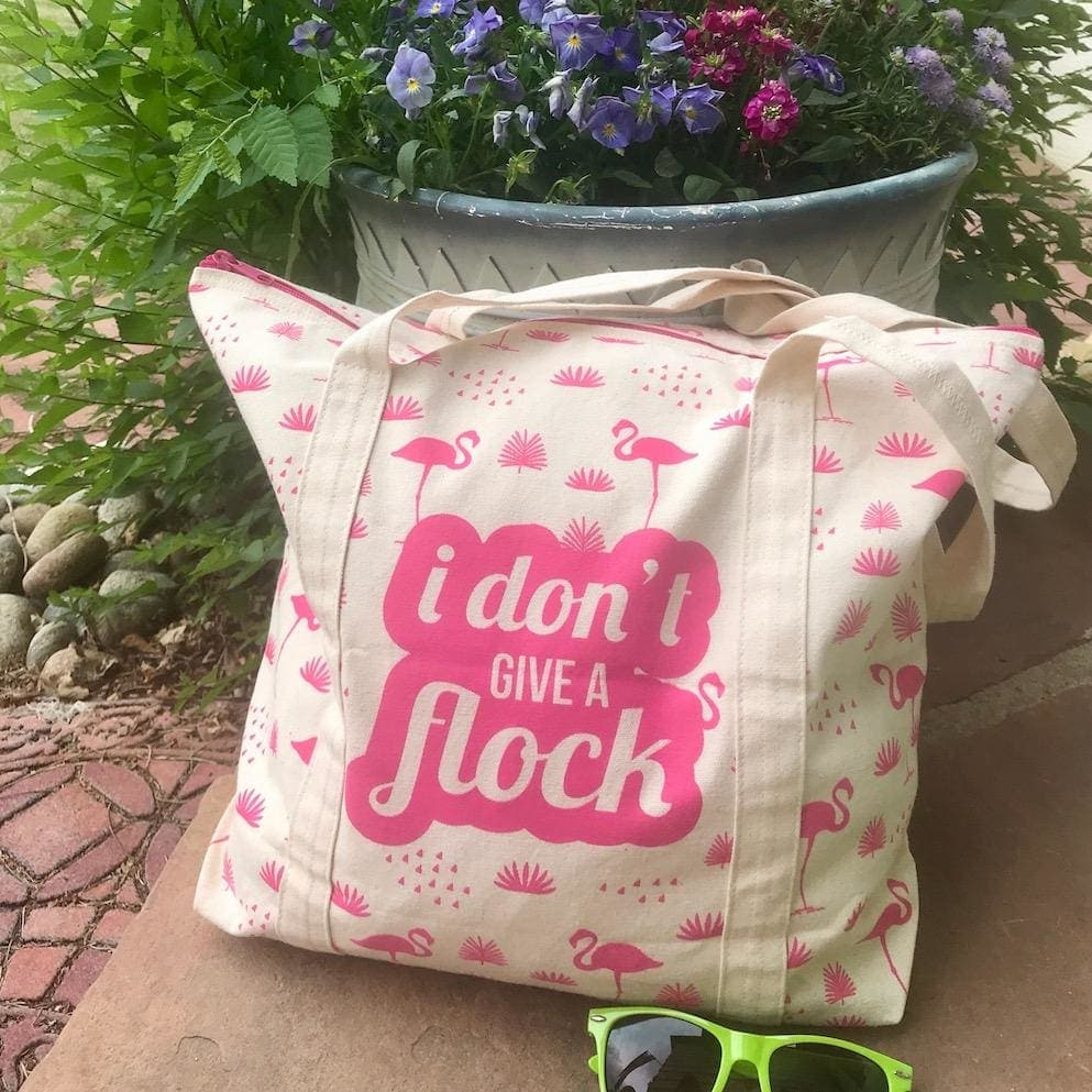 Don't Give a Flock Zippered Tote